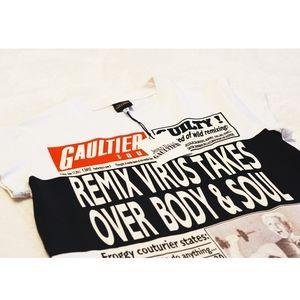 Jean Paul Gaultier RARE Newspaper Tour T-shirt